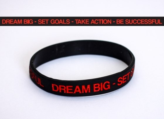 DREAM BIG SILICONE BRACELET M4E