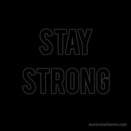 Stay Strong Motivational Silicone Bracelet, black