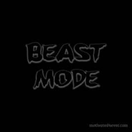 Beast Mode Motivational Silicone Bracelet, debossed