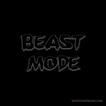 Beast Mode Motivational Silicone Bracelet, debossed
