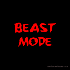 Beast Mode Motivational Silicone Bracelet, debossed red