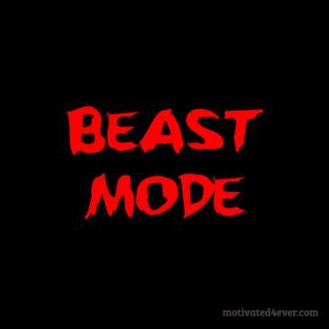 Beast Mode Motivational Silicone Bracelet, debossed red