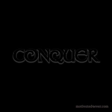 Conquer Motivational Silicone Bracelet, black