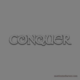 Conquer Motivational Silicone Bracelet, grigio