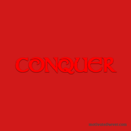 Conquer Motivational Silicone Bracelet, rosso