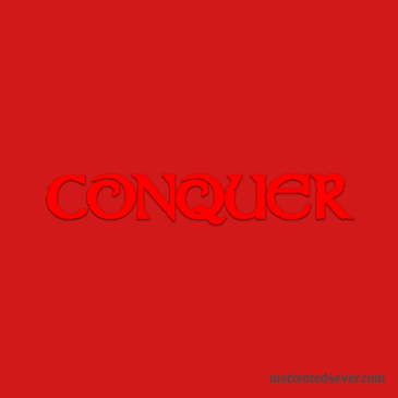 Conquer Motivational Silicone Bracelet, red