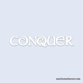 Conquer Motivational Silicone Bracelet, bianco