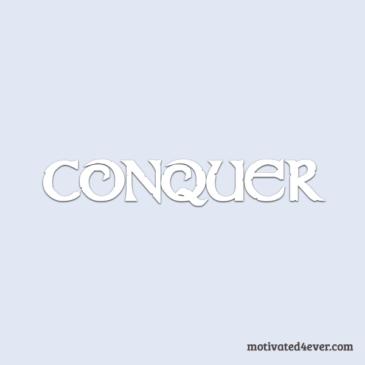 Conquer Motivational Silicone Bracelet, white
