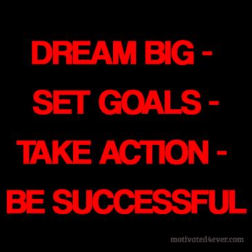 Dream Big, Set Goals, Take Action, Be Successful Bracelet