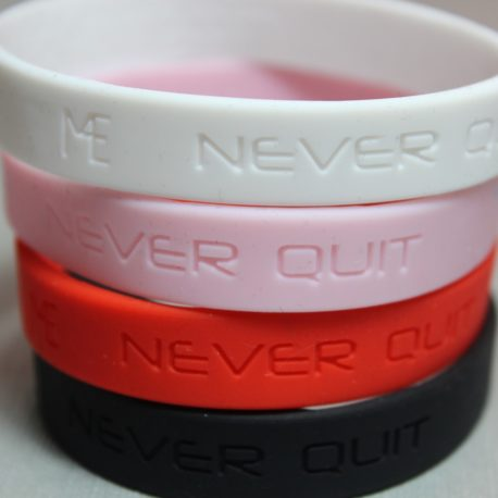 never quit motivational bracelets