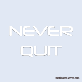 Never Quit Motivational Silicone Bracelet, debossed white