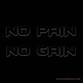 No PAIN No GAIN Motivational Bracelet, debossed black