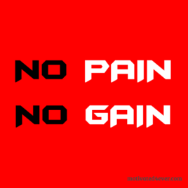 No PAIN No GAIN Motivational Bracelet, red