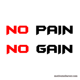 No PAIN No GAIN Motivational Bracelet, white