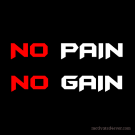 No PAIN No GAIN Motivational Bracelet, black