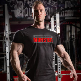 BODYBUILDING MONSTER T-shirt, black
