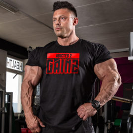 ADDICTED 2 GAINZ T-shirt, black