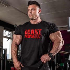 BEAST MODE ON T-shirt, black
