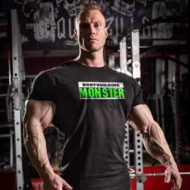 BODYBUILDING MONSTER T-shirt, fluo green