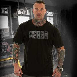 GAINZ T-shirt, black