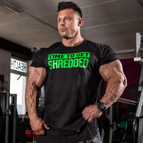 time to get shredded t-shirt