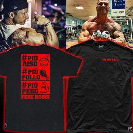 PIU RISO PIU POLLO PIU PESO T-shirt