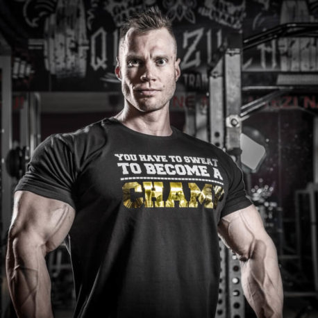 you have to sweat to become a champ t-shirt