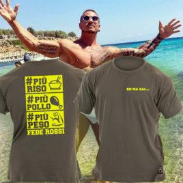 PIU RISO PIU POLLO PIU PESO T-shirt, grey