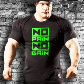 NO PAIN NO GAIN T-shirt, black