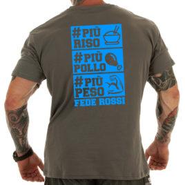 PIU RISO PIU POLLO PIU PESO T-shirt, blue