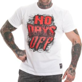 NO DAYS OFF T-shirt, white