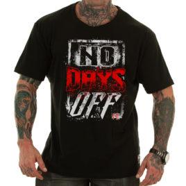 NO DAYS OFF T-shirt, black