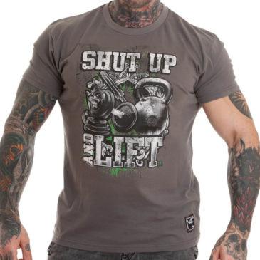 SHUT UP AND LIFT T-shirt, grey