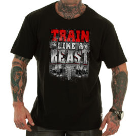 TRAIN LIKE A BEAST T-shirt, black