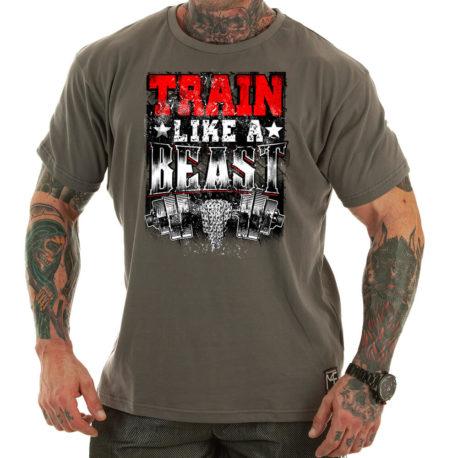 TRAIN LIKE A BEAST m4e t-shirt grey