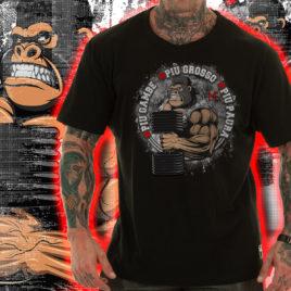 PIU GAMBE, PIU GROSSO, PIU PAURA T-shirt, LIMITED black