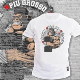 PIU GAMBE, PIU GROSSO, PIU PAURA T-shirt, LIMITED white