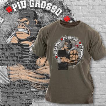 PIU GAMBE, PIU GROSSO, PIU PAURA T-shirt, LIMITED grey